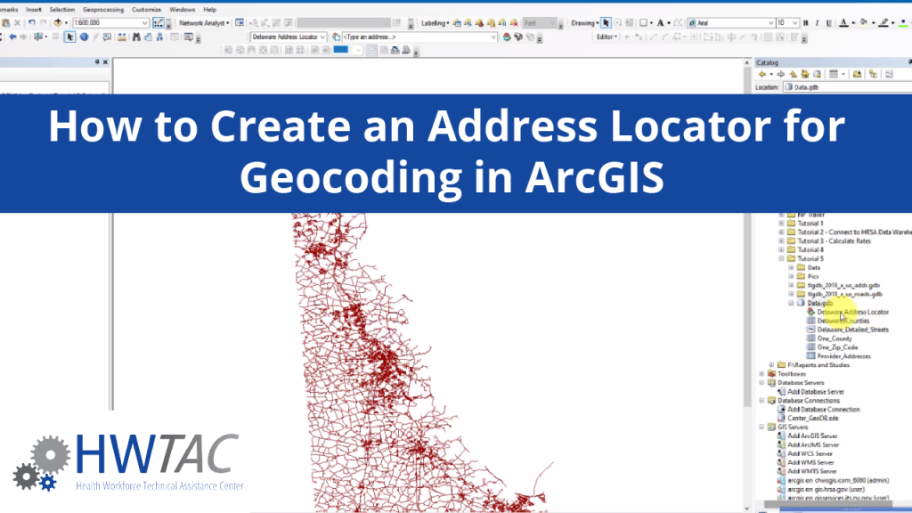 View How to Create an Address Locator for Geocoding ArcGIS