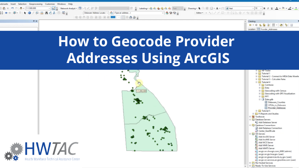 View How to Geocode Provider Addresses Using ArcGIS
