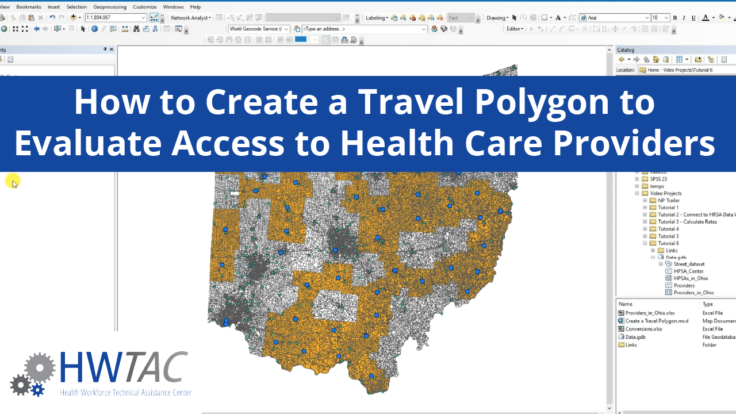 View How to Create a Travel Polygon to Evaluate Access to Health Care Providers