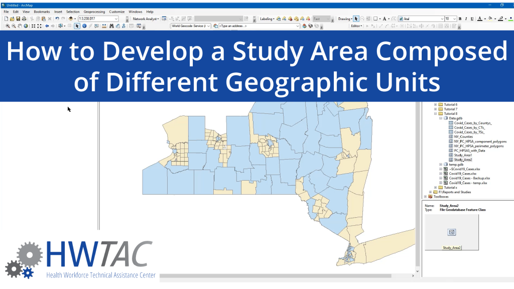 View How to Develop a Study Area Composed of Different Geographic Units